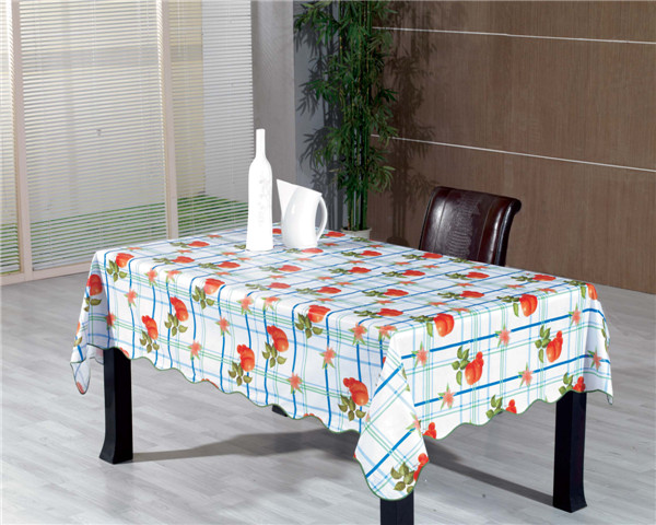 Oilproof, Disposable, Waterproof Feature Printed Pattern Transparent Table Cloth