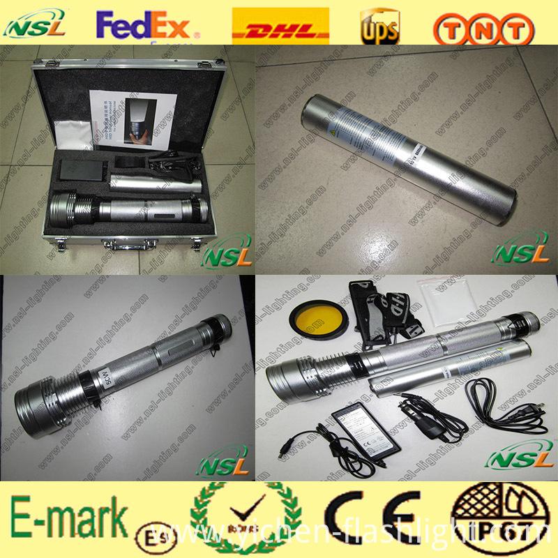 HID Flashlight 24W/35W/50W/65W/75W/85W with Rechargeable Battery (NSL-85W)