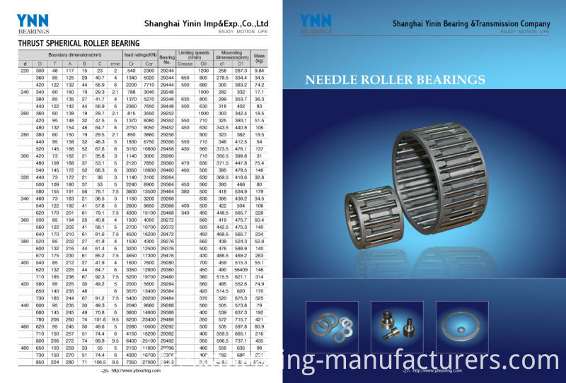 Stainless Steel Na Series Needle Roller Bearing