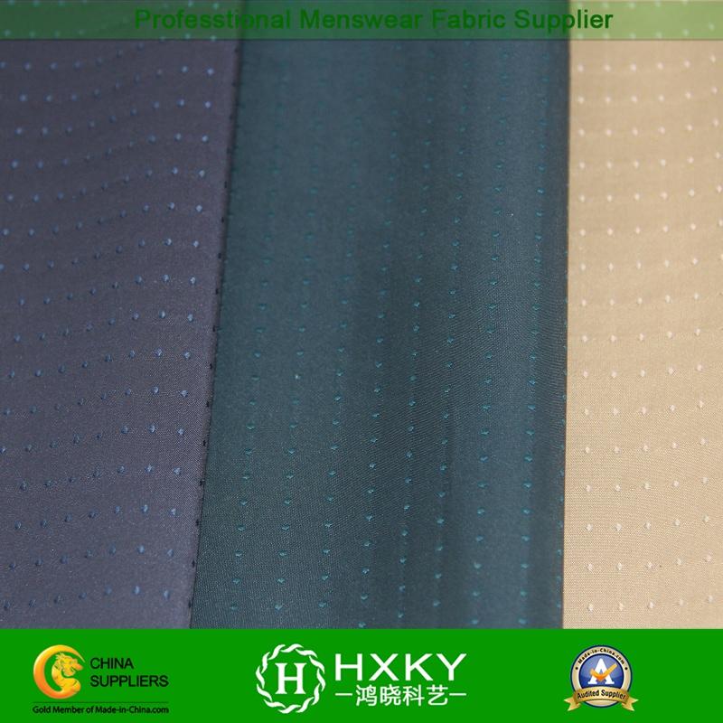 DOT Dobby Stretch Ployester Fabric for Men's Jacket or Windbreaker