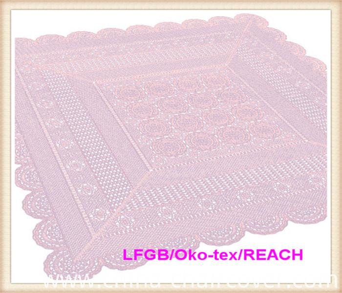 PVC/ Vinyl Lace Crochet Tablecloth
