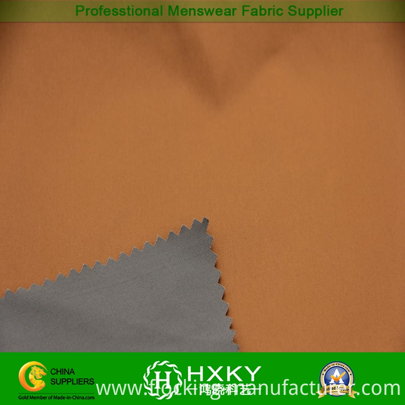 Two-Tune Yarn Dyed Polyester Fabric for Men's Overcoat
