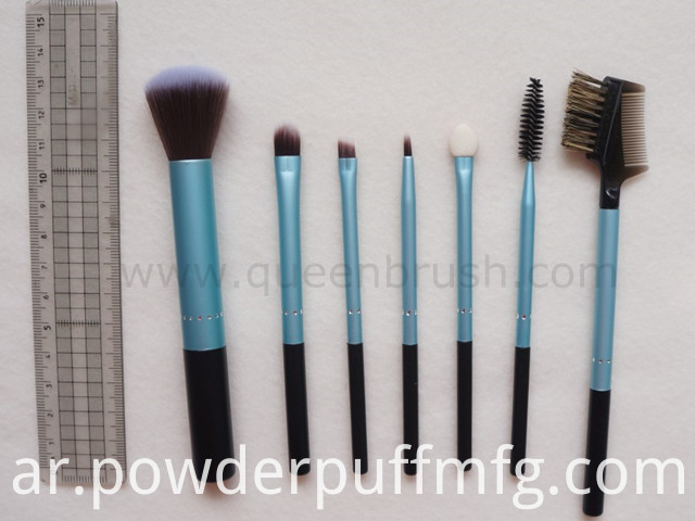 Metal Handle 7PCS Cosmetic Brushes for Make-up Cosmetics