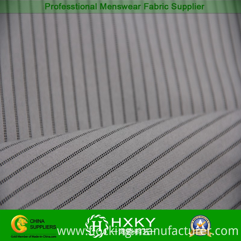 Classic Stripe with Yarn Dyed Polyester Fabric for Men's Jacket or Wadded Jacket