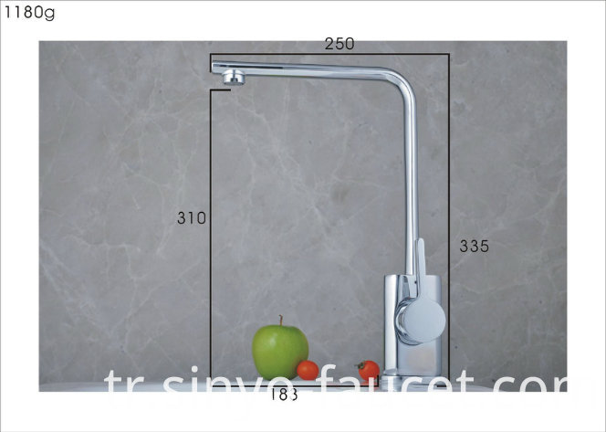 Single Handle Kitchen Water Mixer Brass Sink Tap Faucet (QH0718-1)