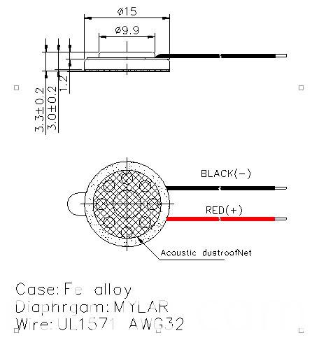 Fbmb1533 15mm 0.5W 8ohm Micro Mylar Cone Waterproof Speaker (FBELE)