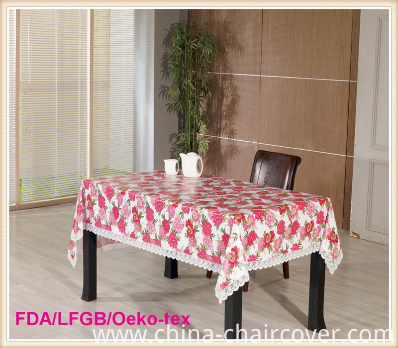 PVC Printed Tablecloth in Roll Wedding/Home Decoration