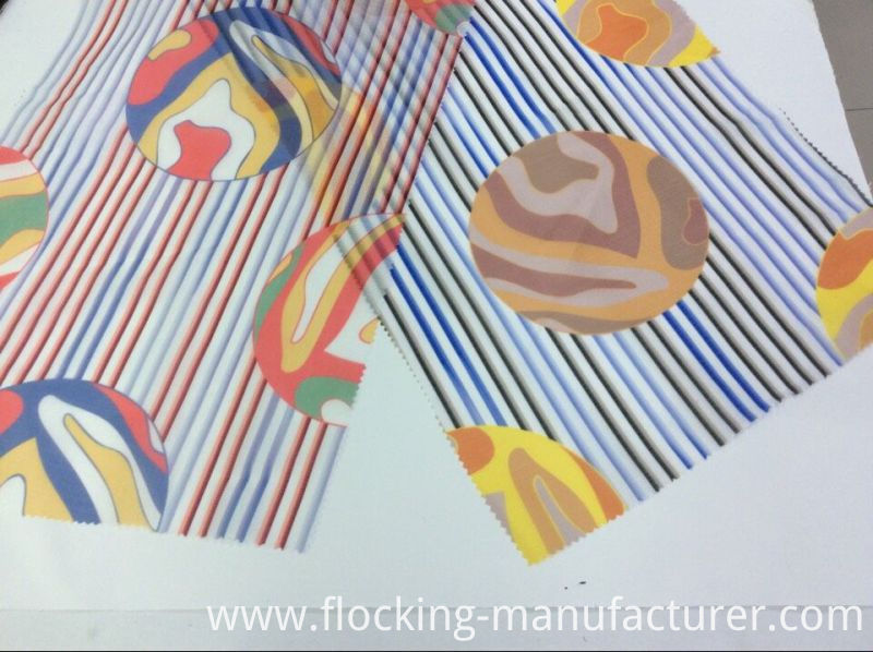 Toothstick-Striped Organza Printed Fabric for Fashion Garment