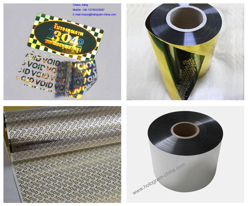 Silver Aluminum Embossing Tamper Evident Void Foil