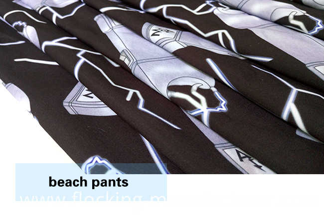 Polyester Brushed Digital Printed Beach Shorts/ Pants Fabric