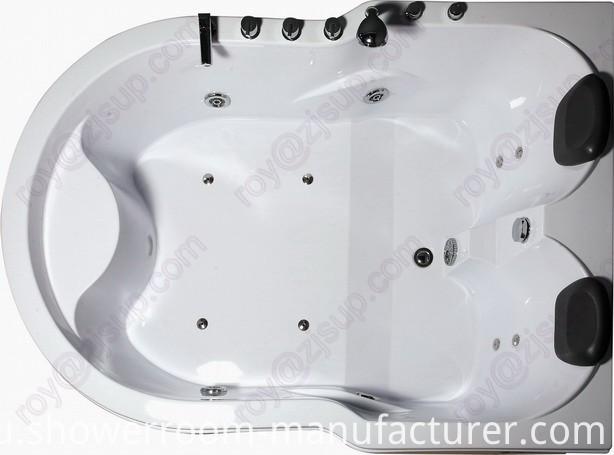 Acrylic Double People Jacuzzi Massage Bathtub (CL-325)