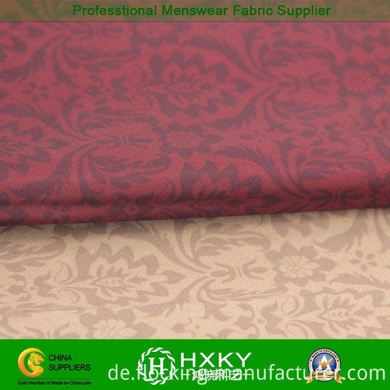 Exotic Style Printed Polyester Fabric for Men's Apparel