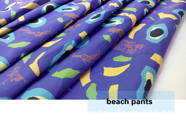 Printed Polyester Brushed Beach Shorts/ Casual Garment Fabric