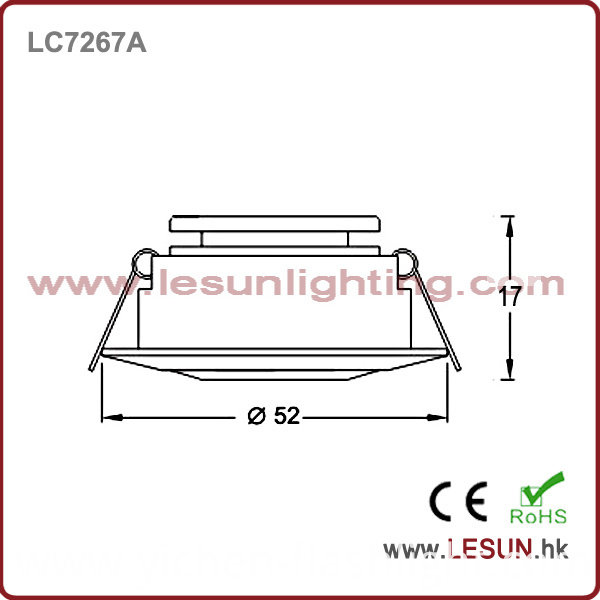 Recessed 1W LED Cabinet Light/Spotlight LC7267A