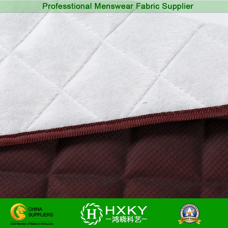 Compound Polyester Fabric with Diamond Stitch for Quilted Jacket