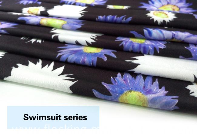Digital Printing Swimwear Fabric with Chrysanthemum Flower