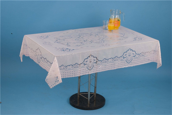 120*152cm Clear PVC Printed Transparent Tablecloth of New All in One Design for Home/Party/Wedding
