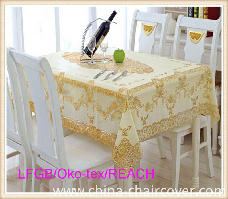 PVC Lace Ready Made Tablecloth China Factory 60''*90''
