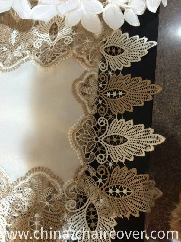 Oval Lace Embroidery Table Cloth