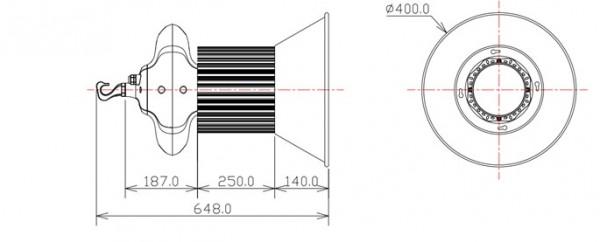 Heat Resistant Explosion Proof 100W 110V LED High Bay Light