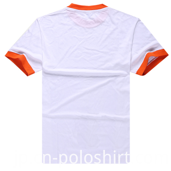 Contrast Collar & Cuffs Plain Uniform T Shirt