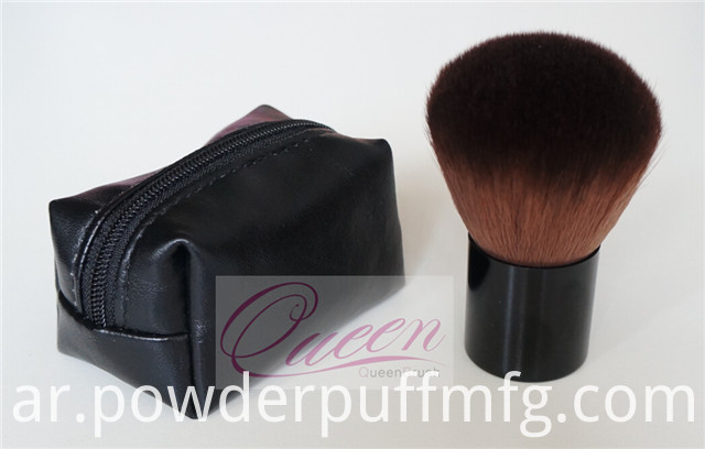 Synthetic Black 30mm Diameter Kabuki Brush with Pouch