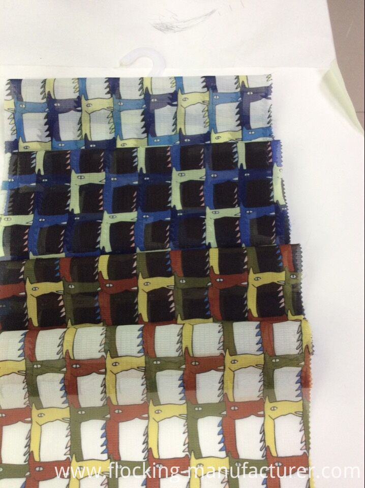 Polyester New Check Design Printed Garment Fabric