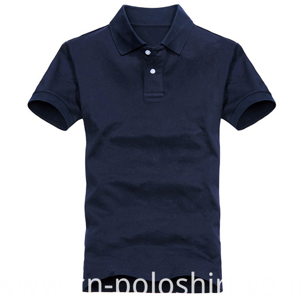 Best Quality Navy Blue Men Plain Polo Shirt on Sale