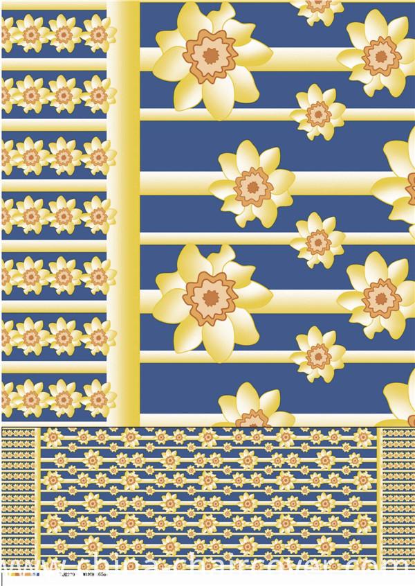 Nonwoven Fabric Backing Plastic Cheap PVC Printed Tablecloth Tj0093