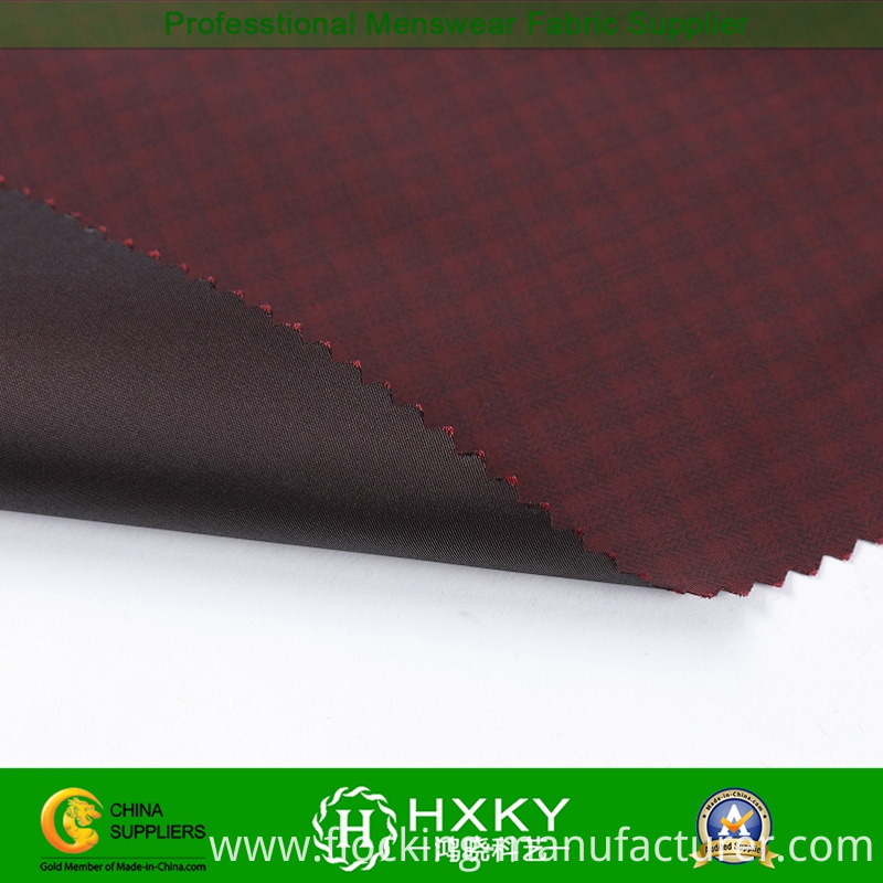 Imitation Memory Polyester Fabric with Checks Printed for Jacket