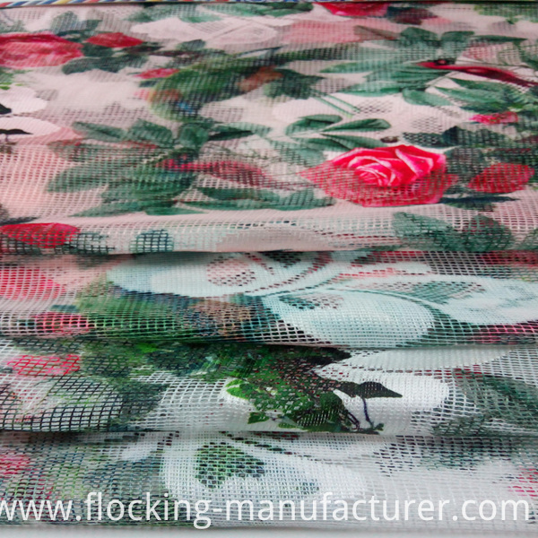 Printed Lace/ Mesh Fabric for Garment and Home Textiles
