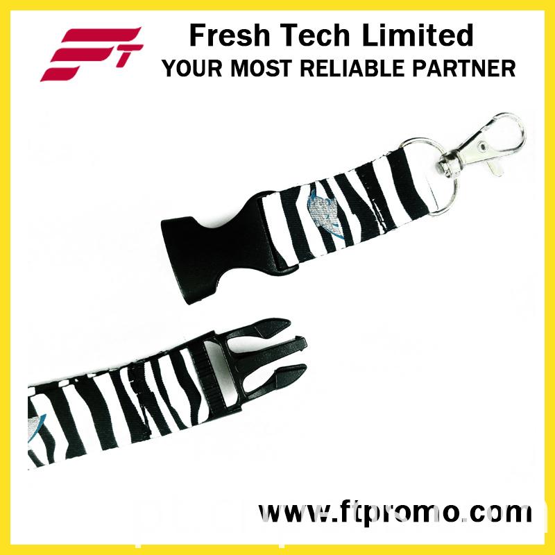 2016 New Designed Zebra Style Polyester Lanyard