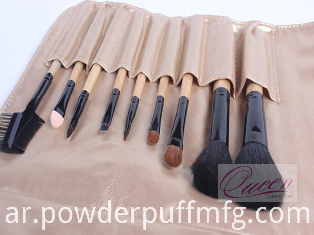 Wholesale Goat Hair Makeup Brush 9 Pieces Travel Cosmetic Brush