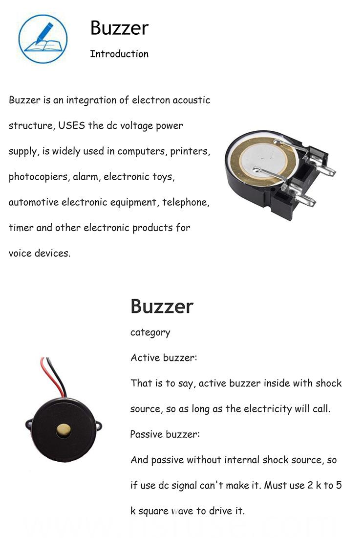 High Quality Passive 40kHz Piezo Buzzer with 120dB