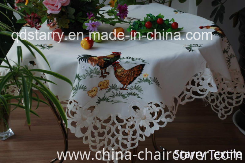 Fh-17 Chicken Tablecloth for Easter