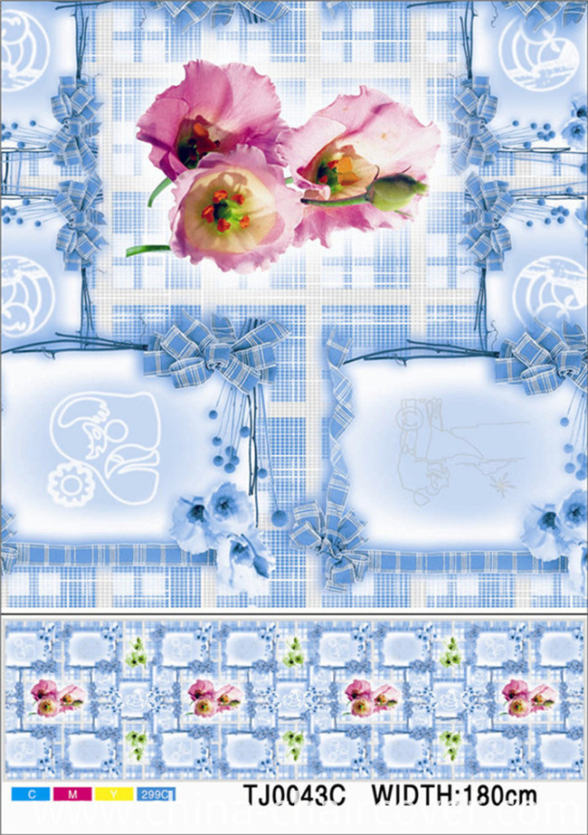 High Quality LFGB Cheap Nonwoven Backing Plastic PVC Tablecloth (JF0023)