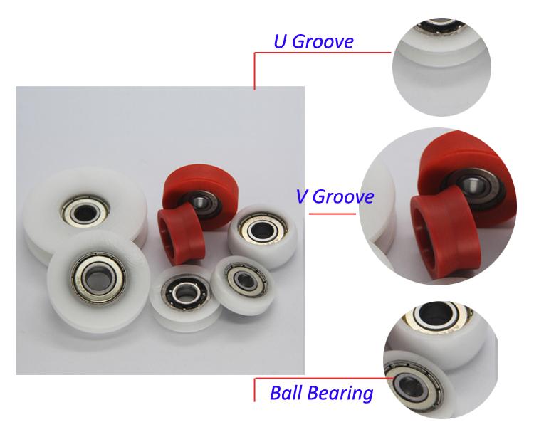 Plastic Ball Bearings Shower Door Bearing Wheels