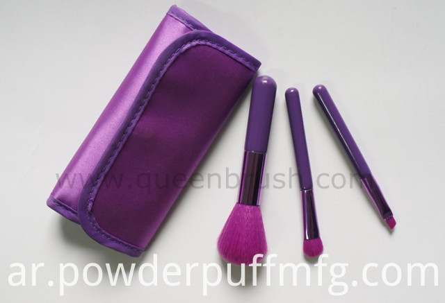 Beauty Cosmetics Nylon Hair Makeup Brush Set 3 Pieces