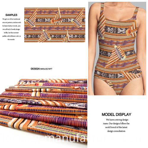 High-Stretch Digital Printed New Pattern Knit Fabric for Swimwear