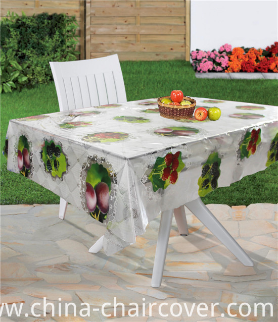 Factory Wholesale Cheap Tablecloth PVC Material Transparent Tablecloth (TT0284)