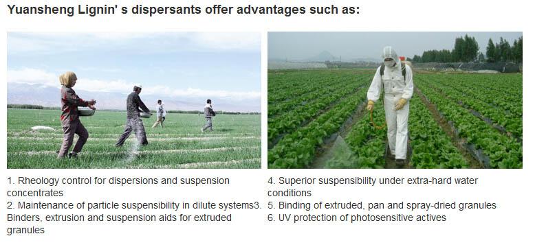 Ca Ligno Sulphonate Pesticides / Fungicides for Agriculture