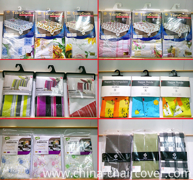 PVC Clear Tablecover, Printed Table Cover, PVC Material and Square Shape