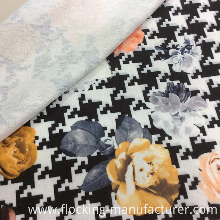 Flower Printed Jacquard Fabric for Garment/ Sofa/ Cushion