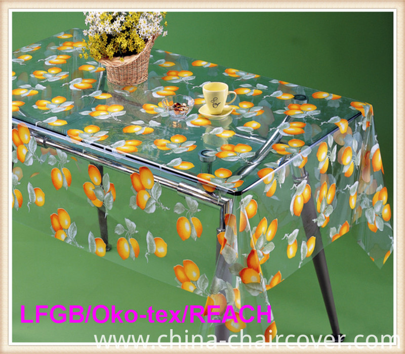 PVC Printed Transparent Tablecloths in Roll Hot Sales