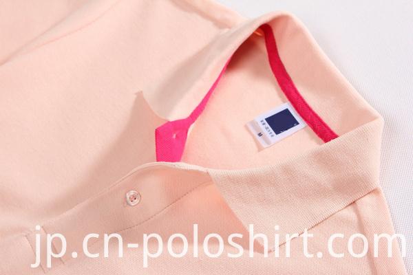 Customized Womens Screen Printing Black Polo Shirts