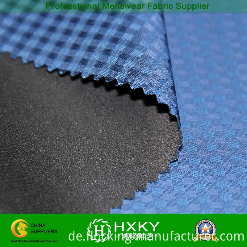 Memory Compound Poly Fabric with Checked Dobby for Garment