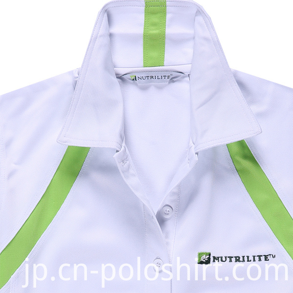 White 100% Polyester Quick Dry Fit Polo/Golf Shirt