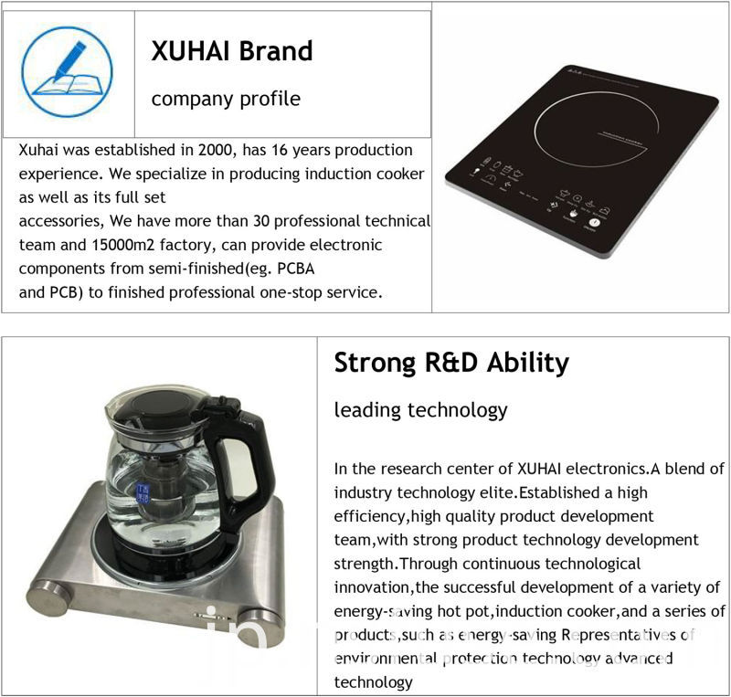 Xuhai Compamy Low Price Induction Cooker with 110V/220V