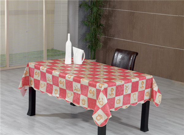 Printed Pattern Tablecloth PVC Material with Backing and Oilproof, Disposable, Waterproof Feature Table Cloth