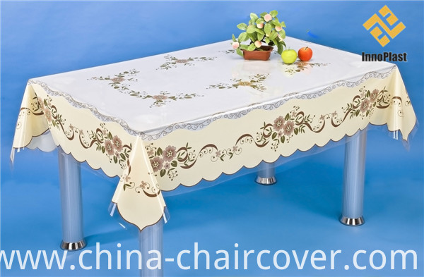 2016 Cheap PVC Printed Transparent Tablecloth Independent Design